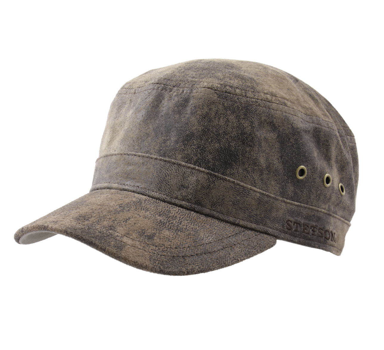 Casquette militaire cuir Raymore Pig Skin