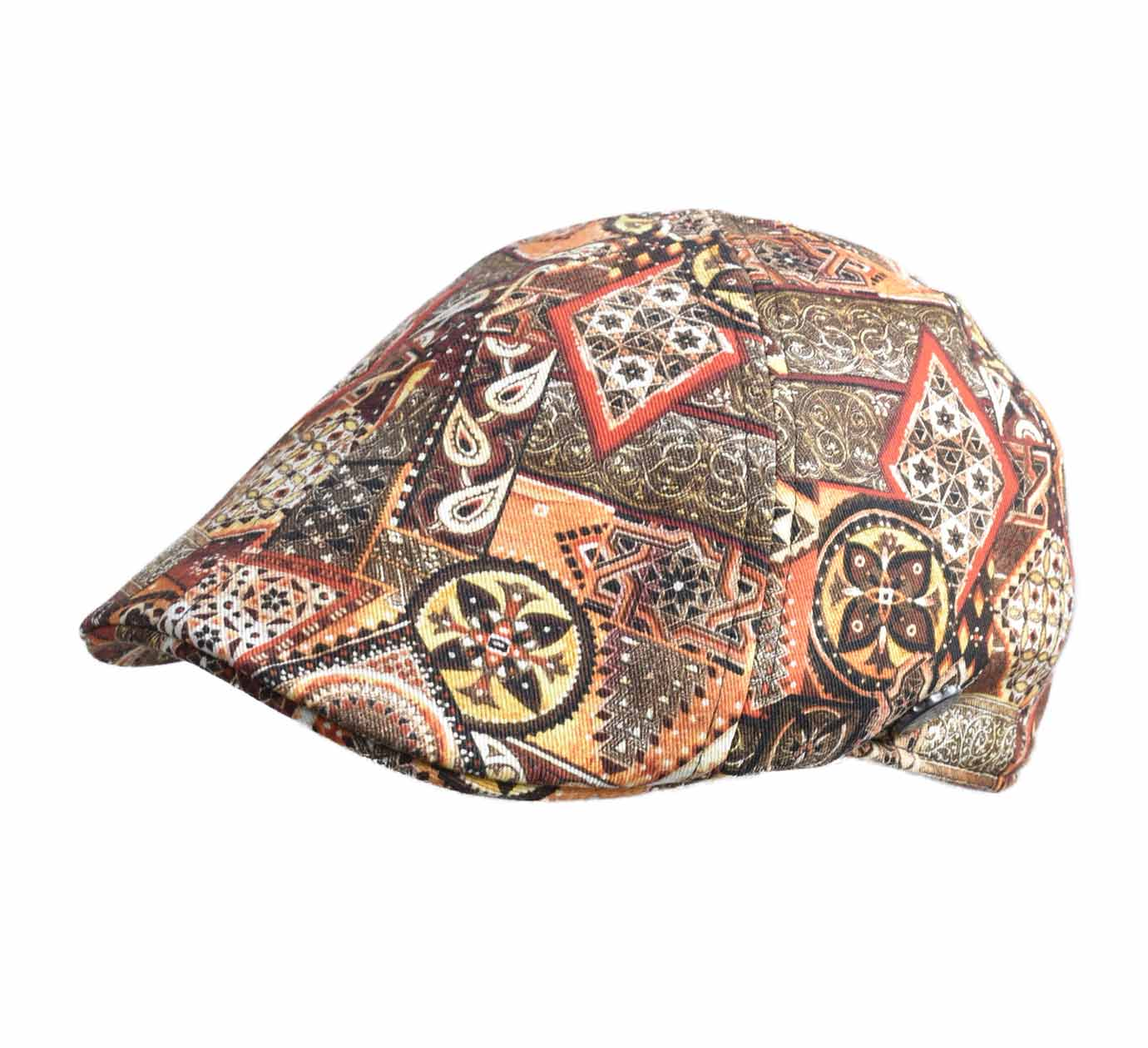 casquette bec Stetson Texas ethno print