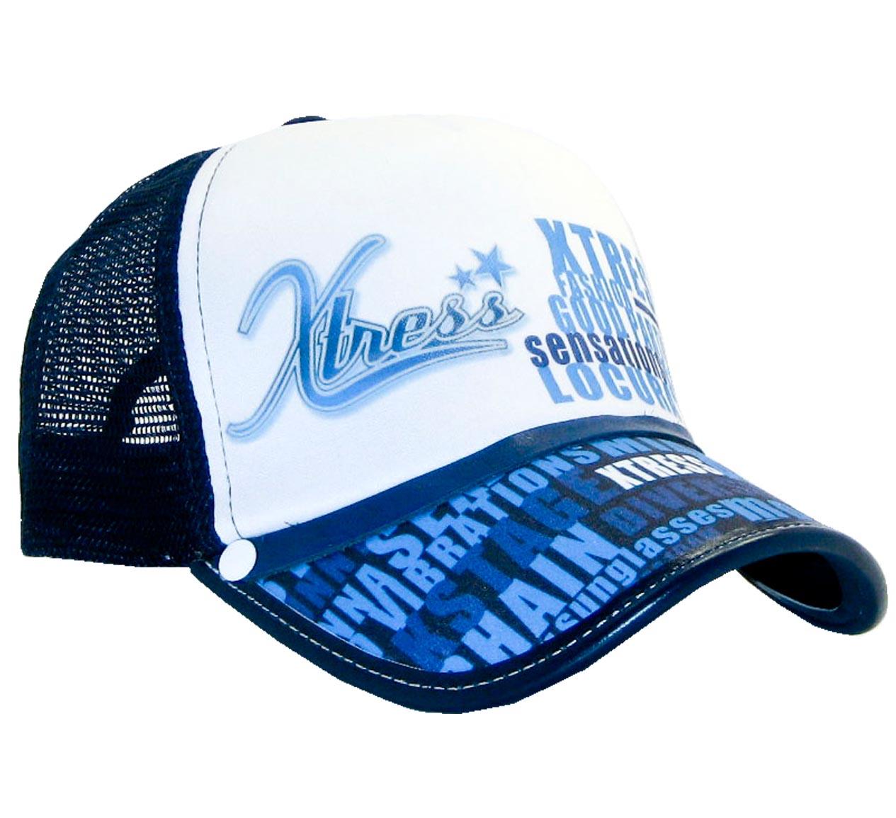 Casquette bleue casquette rock