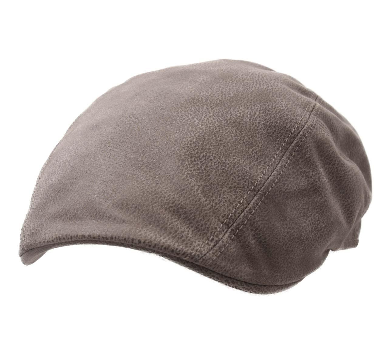 b ret casquette plate cuir homme ou femme michigan chevrette marron clair 51 ebay. Black Bedroom Furniture Sets. Home Design Ideas