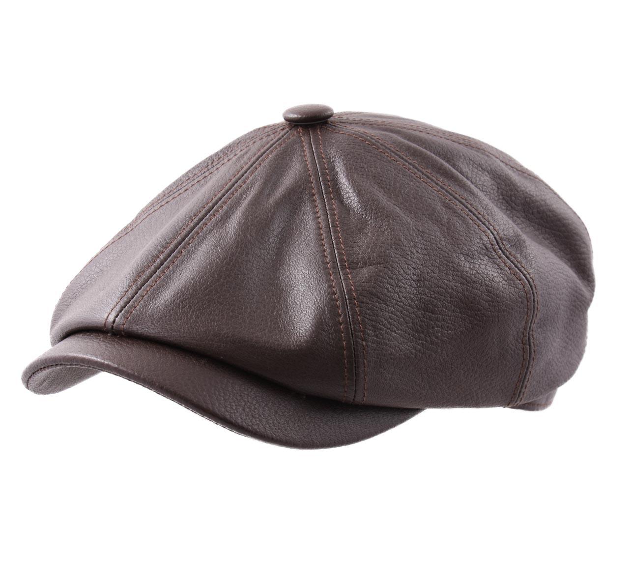 Beret-casquette-plate-cuir-homme-ou-femme-Hatteras-Goat-Suede