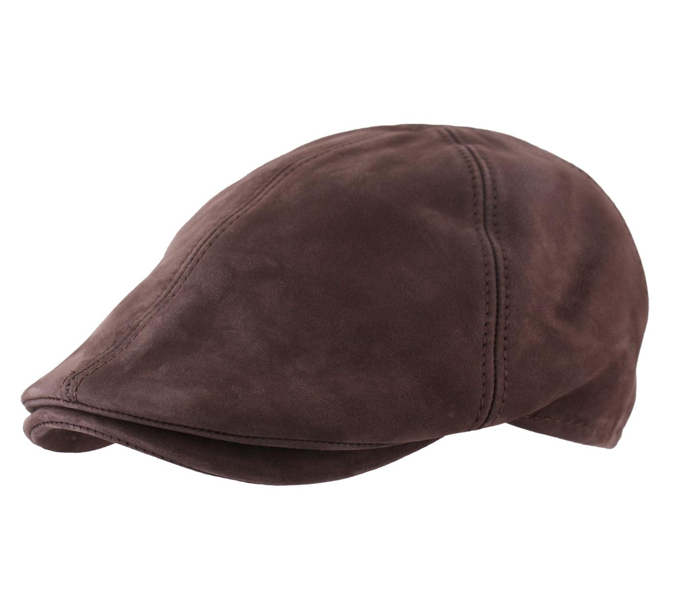 b ret casquette plate cuir homme classic cap cuir marron ebay. Black Bedroom Furniture Sets. Home Design Ideas